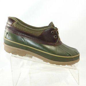 Sporto Size 9 M Green Brown Duck Toe Mens L4 C34
